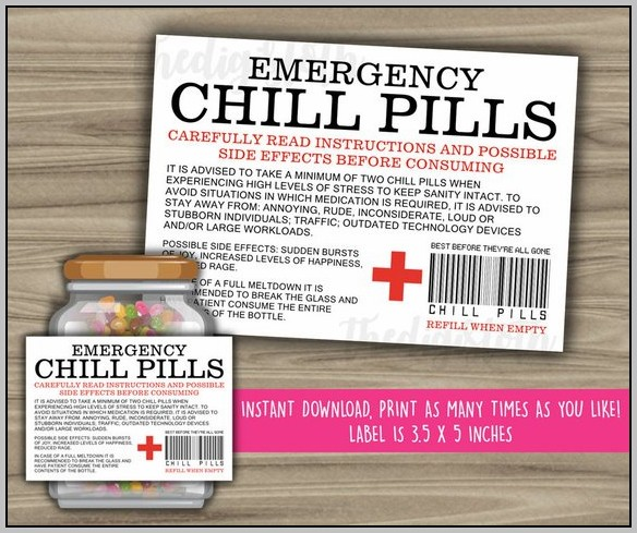 Chill Pill Label