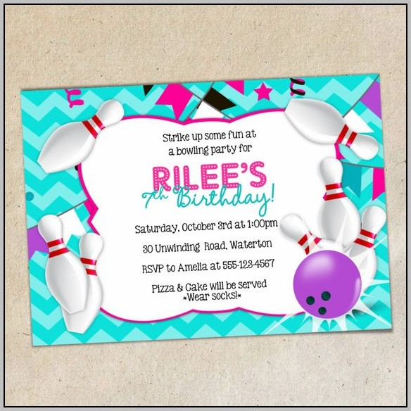 Bowling Party Invitation Template Word