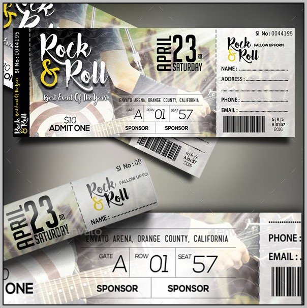 Concert Ticket Template Psd Free