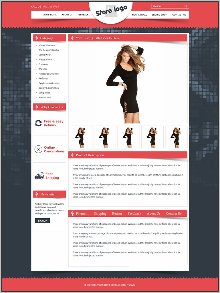 Ebay Listing Page Template
