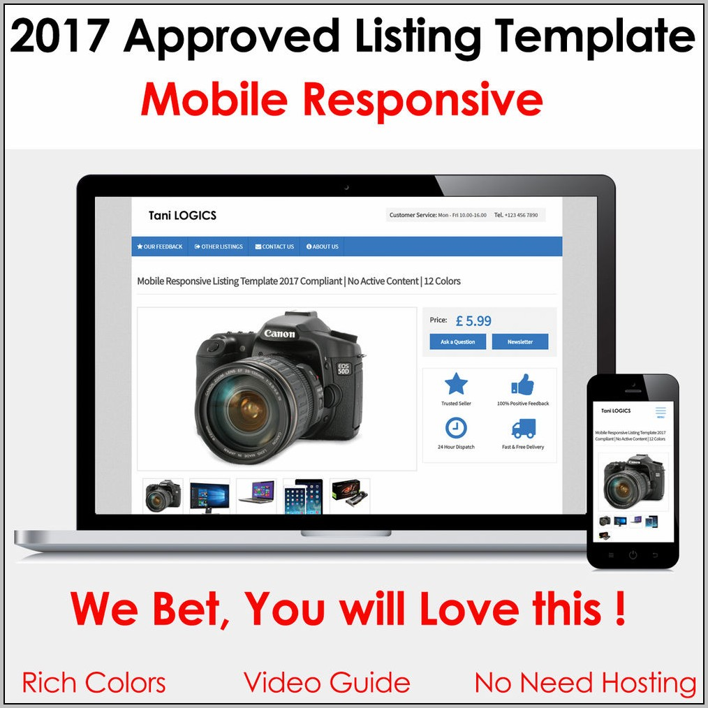 Ebay Listing Template Mobile Responsive