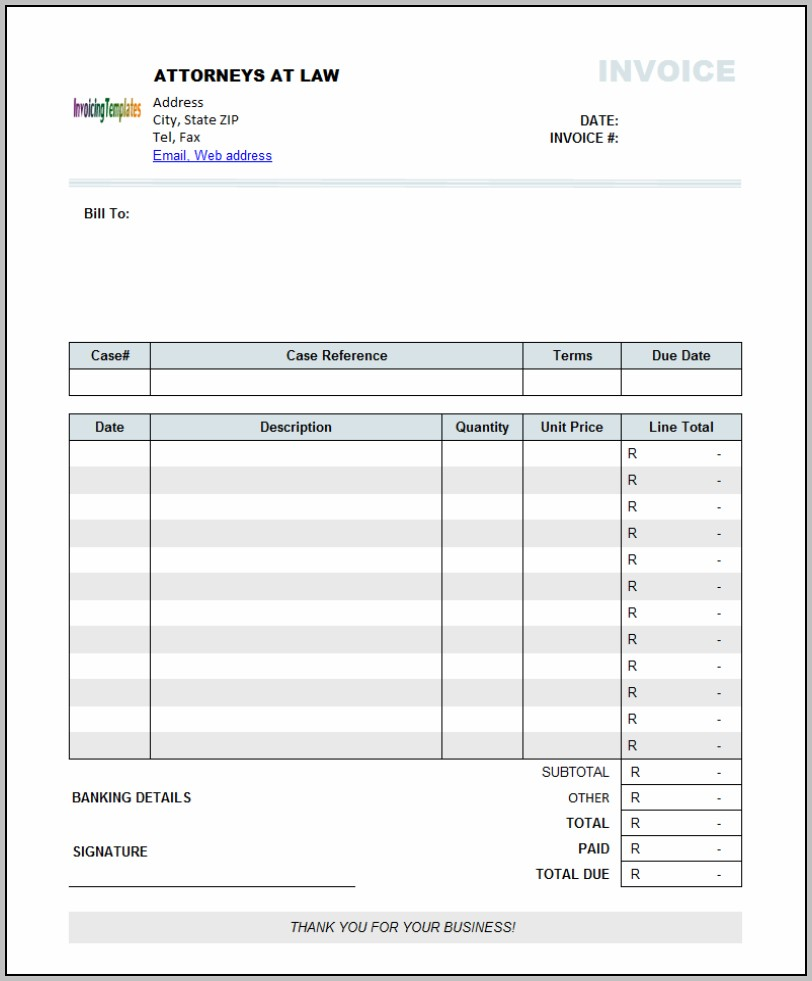 Freelance Invoice Template South Africa