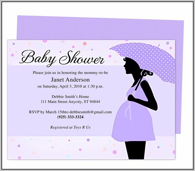 Baby Shower Invitation Templates With Photo