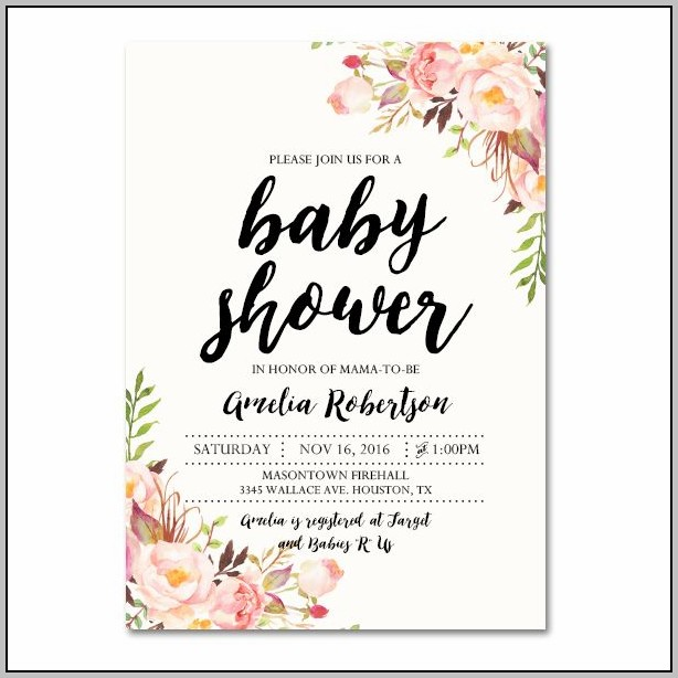Baby Shower Invite Template Download