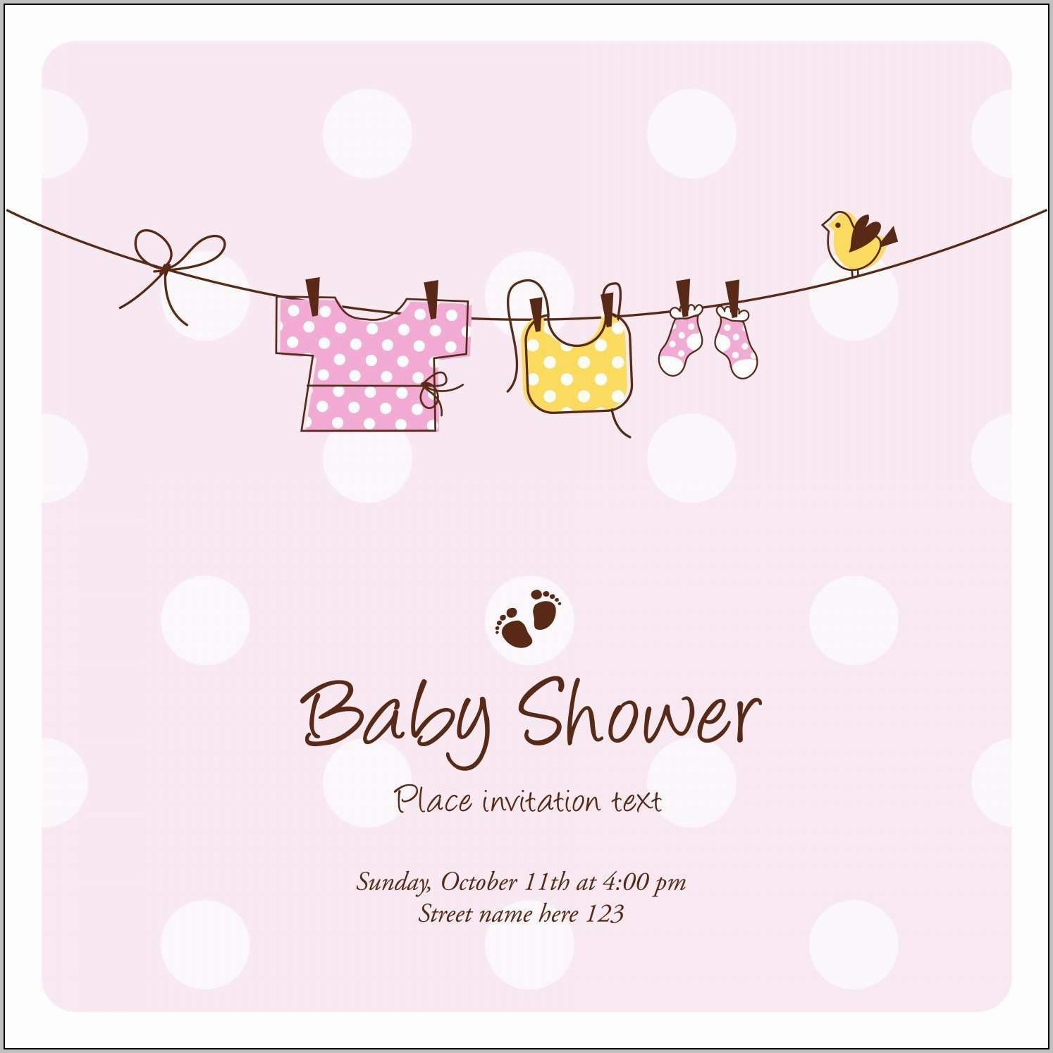 Baby Shower Invite Template For Email