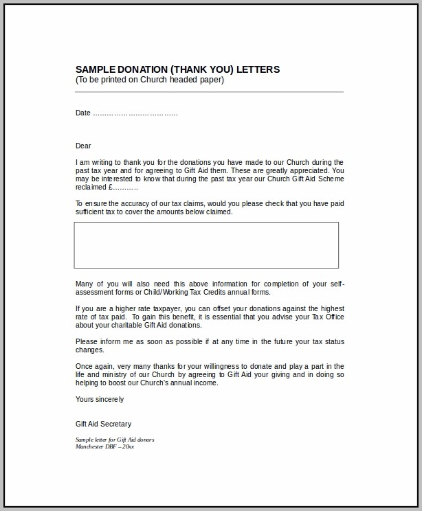 Donation Letter Template Word