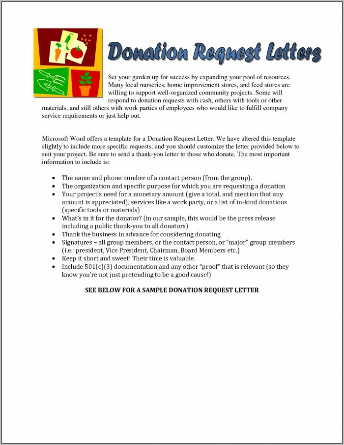 Donation Request Letter Template Free