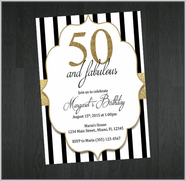 Free 50th Party Invitation Templates