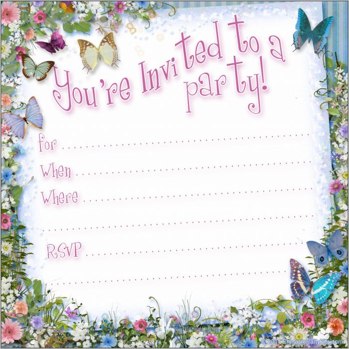 Free Anniversary Party Invitation Templates