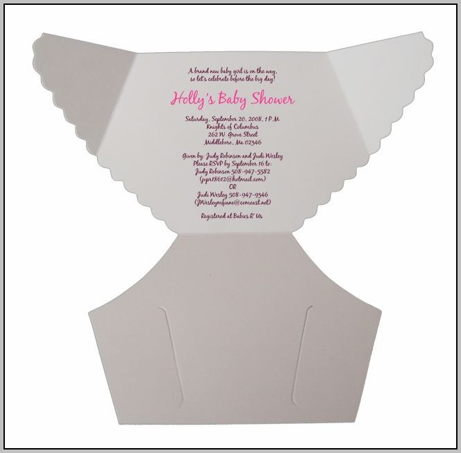 Free Baby Shower Diaper Invitation Templates