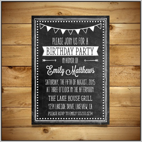Free Birthday Party Invitation Templates Word