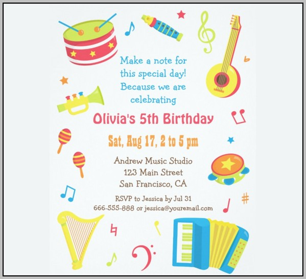 Free Children's Party Invitation Templates