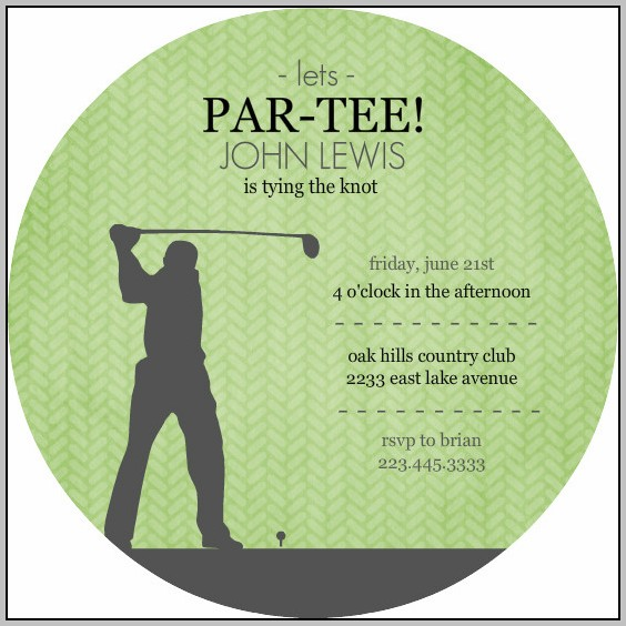 Free Golf Party Invitation Template