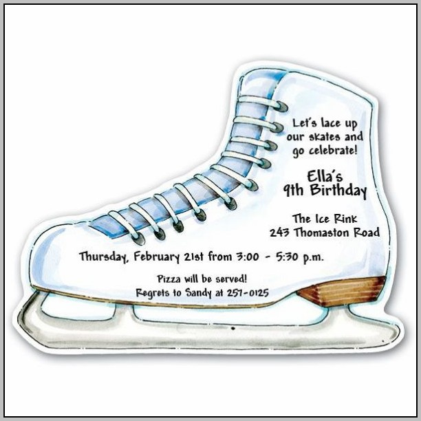 Free Ice Skating Party Invitation Templates