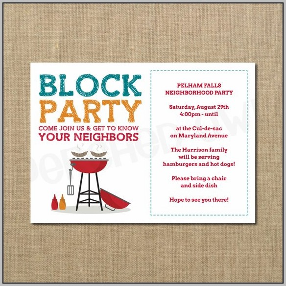 Free Neighborhood Party Invitation Templates