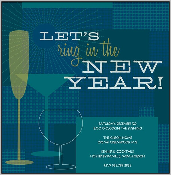 Free New Years Eve Party Invitation Templates