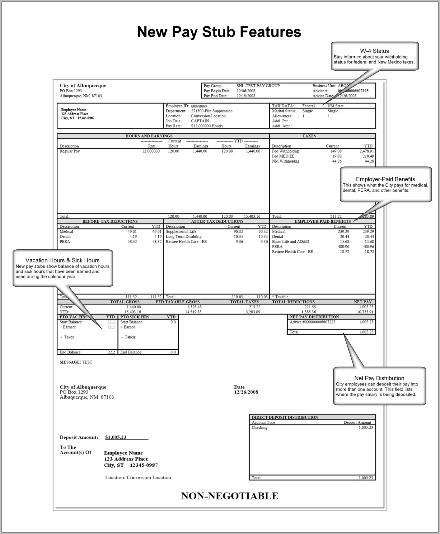 Free Pay Stub Template For 1099 Employee