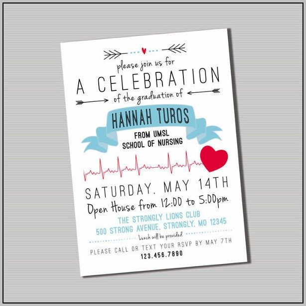 Free Printable Nursing Graduation Party Invitation Templates