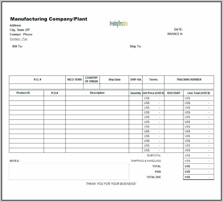 Proforma Invoice Format Excel Gst