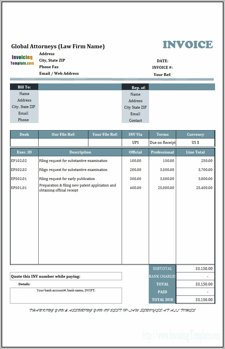 Proforma Invoice Template South Africa