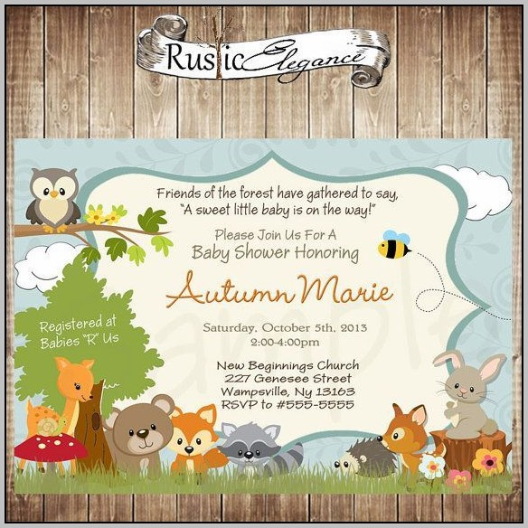 Woodland Baby Shower Invite Template
