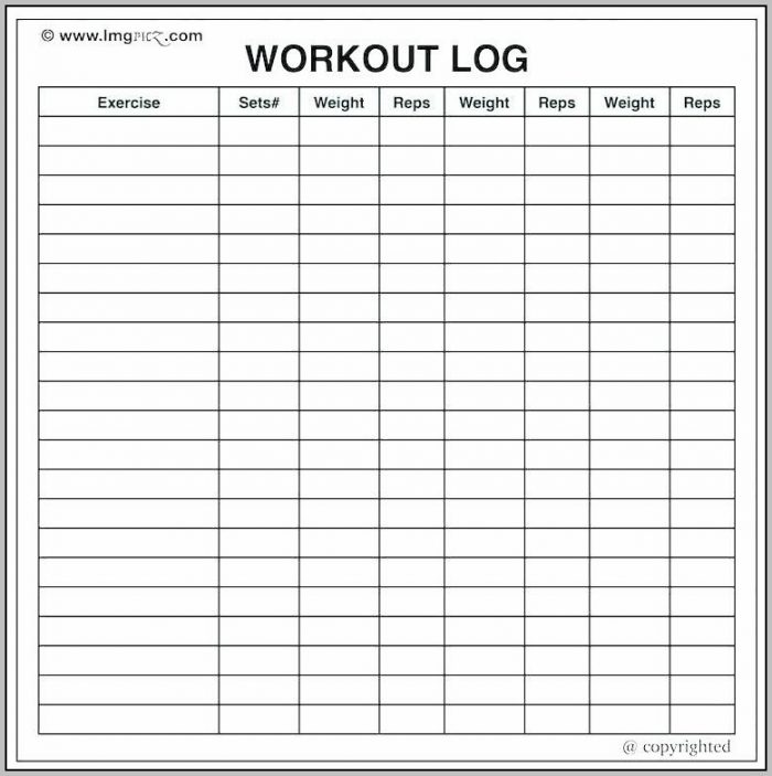 Workout Journal Template Excel