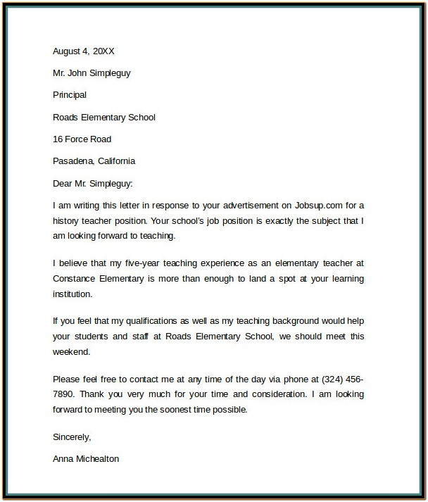 Resume Cover Letter Example For It Professionals