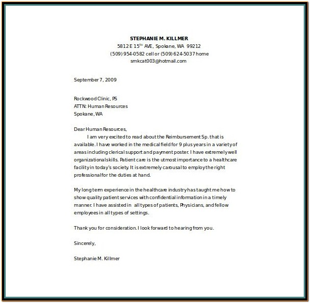 Resume Cover Letter Template Nursing