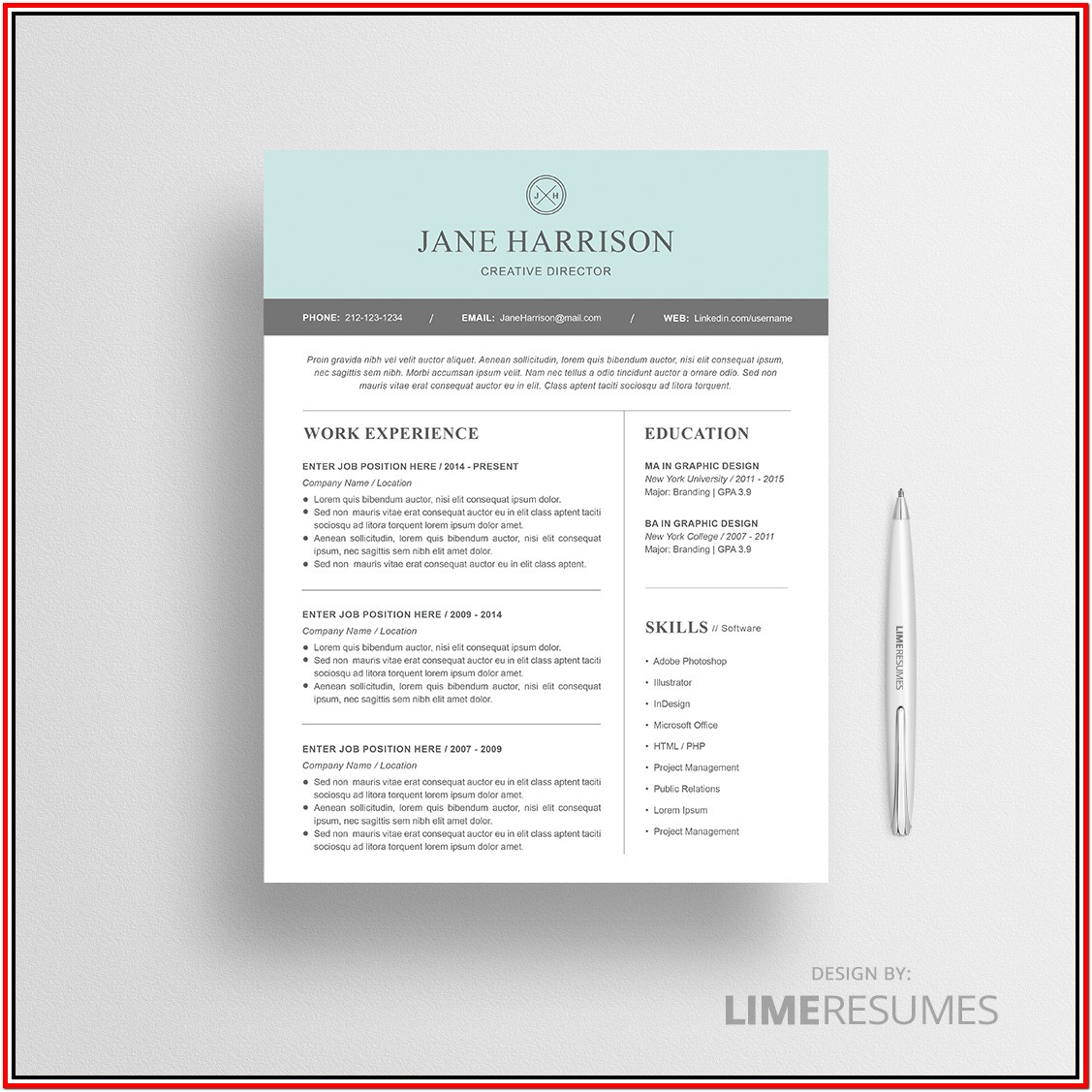 Free Modern Resume Templates For Microsoft Word