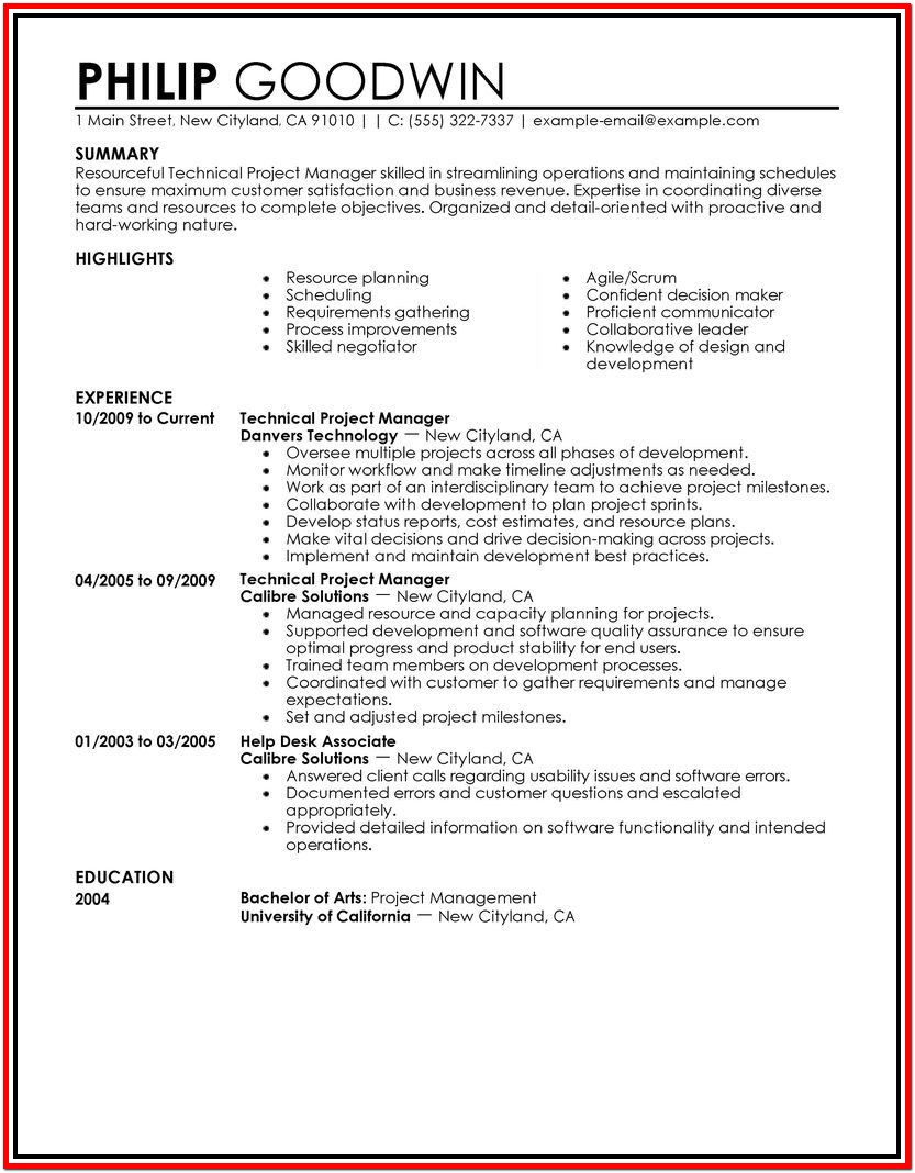 Resume Formats For Free