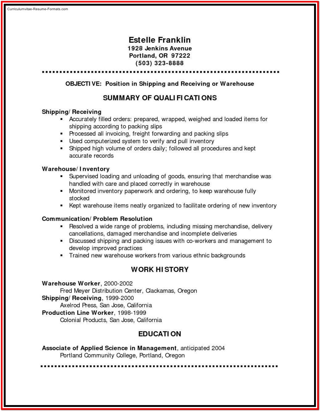 Resume Samples Free Download Pdf