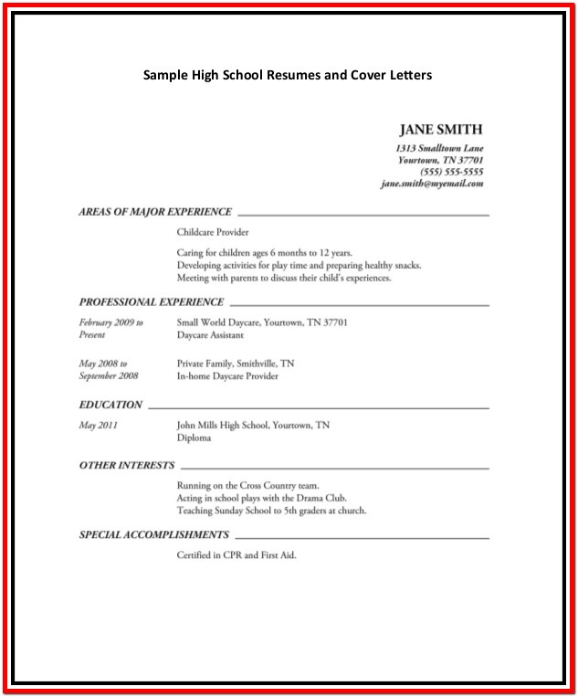 Resume Template Microsoft Word High School Student