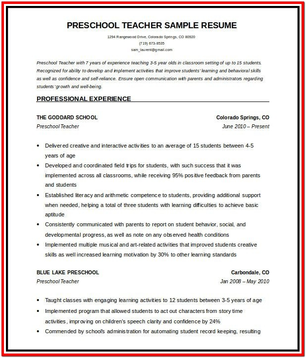 Resume Templates For Microsoft Word 2007 Free