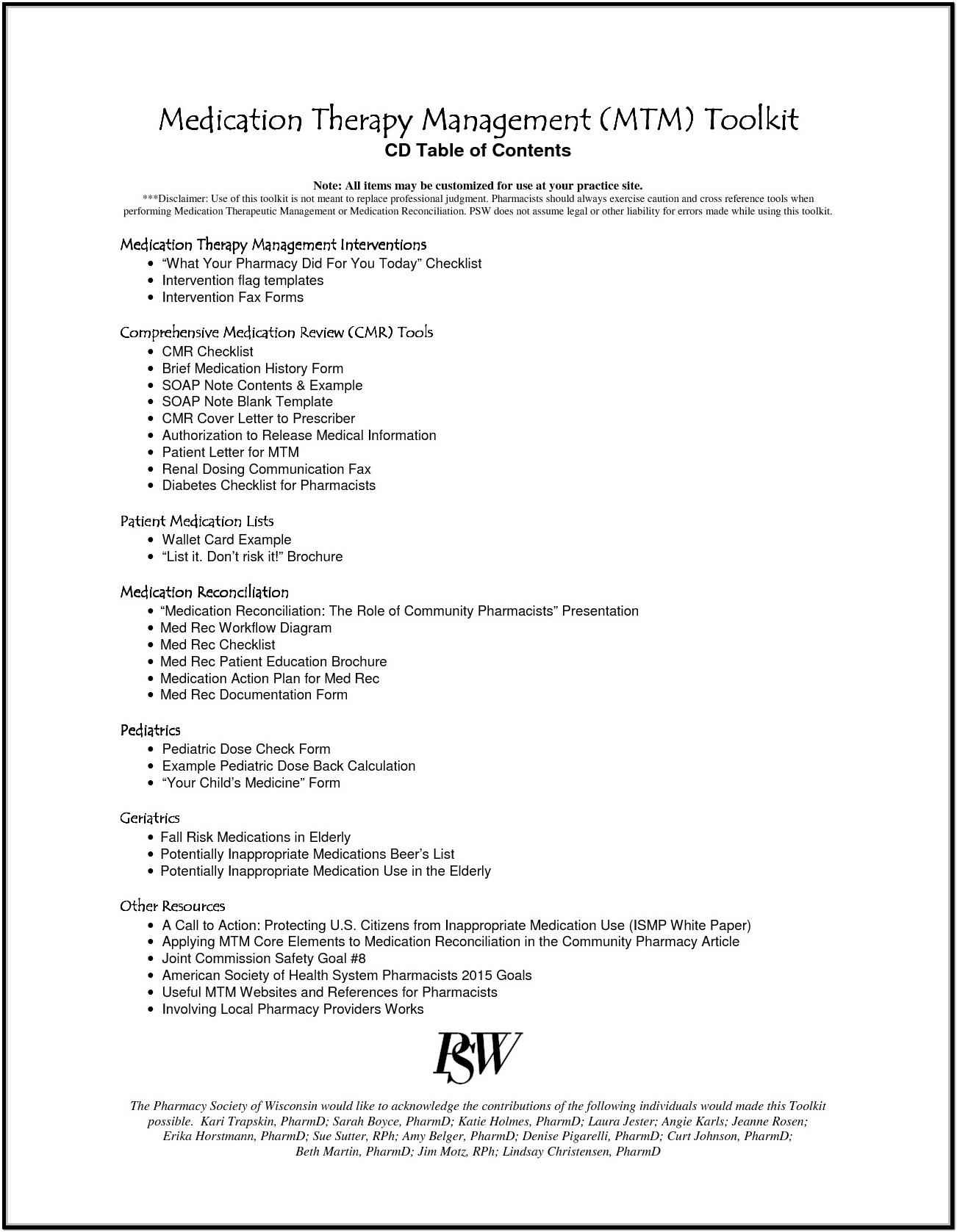 Sample Psw Resume And Cover Letter
