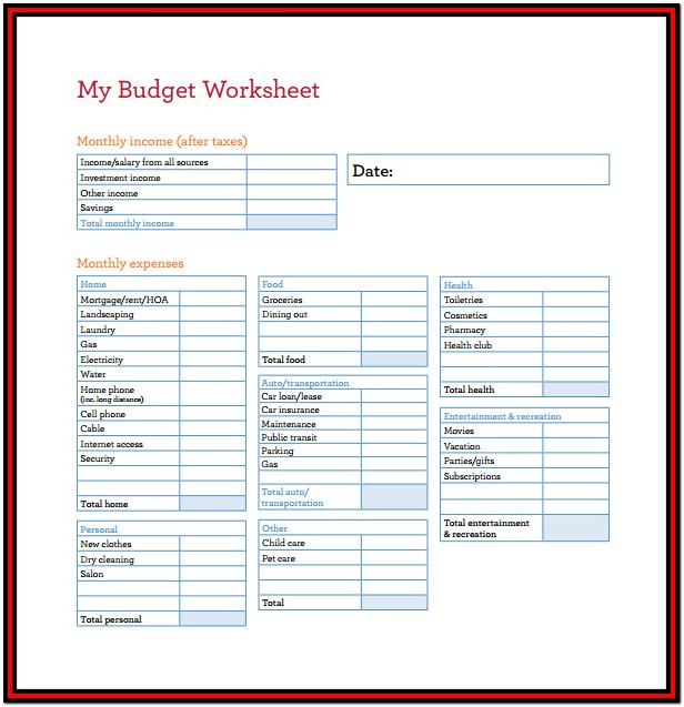 Download Budget Spreadsheet Free