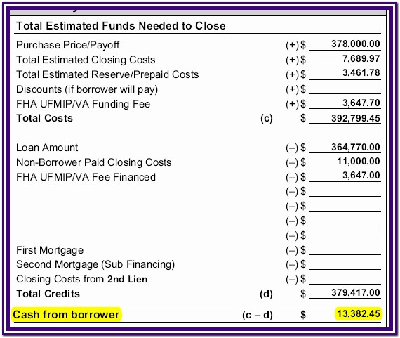 Fha Streamline Refinance Worksheet 2016