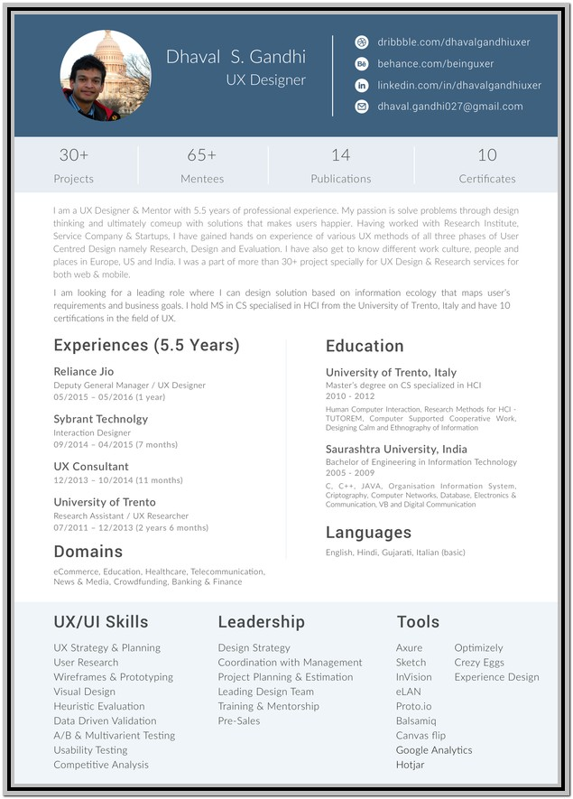 Free Download Resume Format For Graphic Designer Fresher