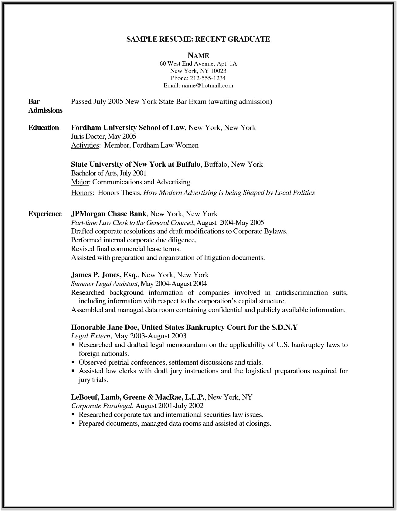 Free New Grad Nursing Resume Templates