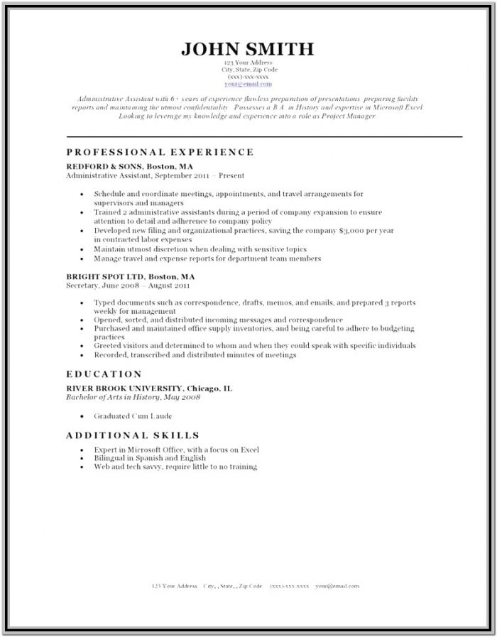 New Resume Format 2018 Free Download