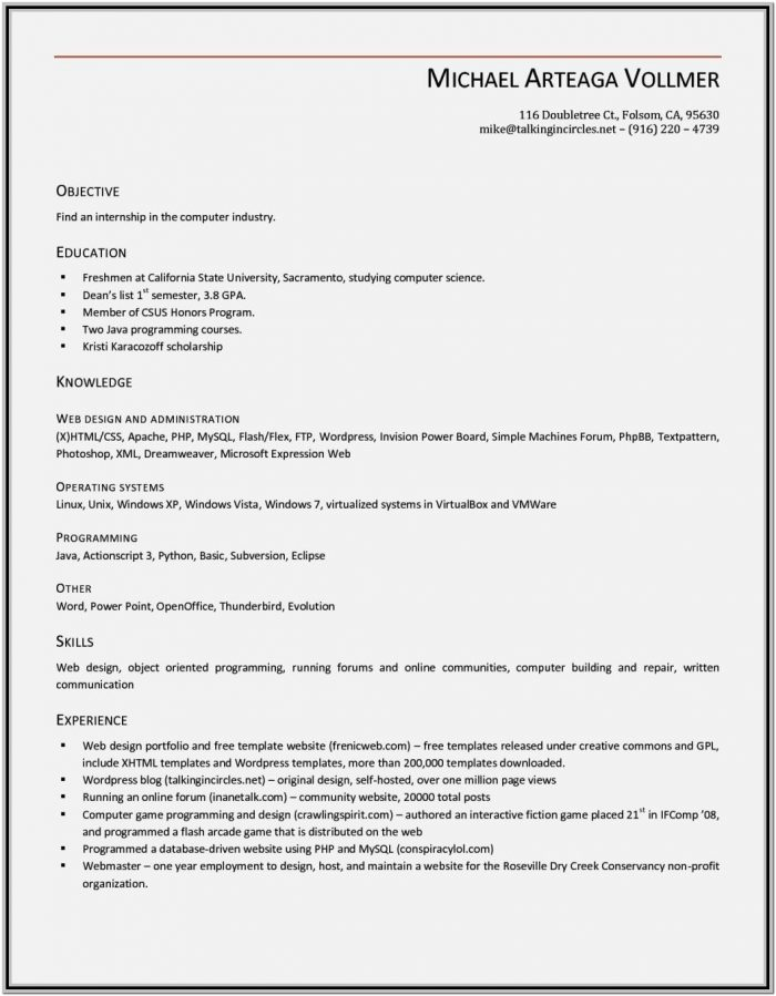 Office Resume Format Free Download