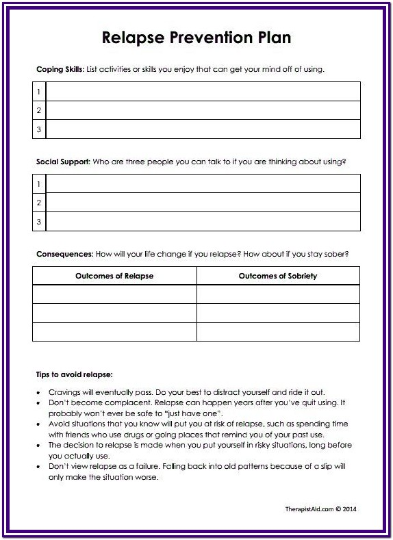 Substance Abuse Group Activities Worksheets