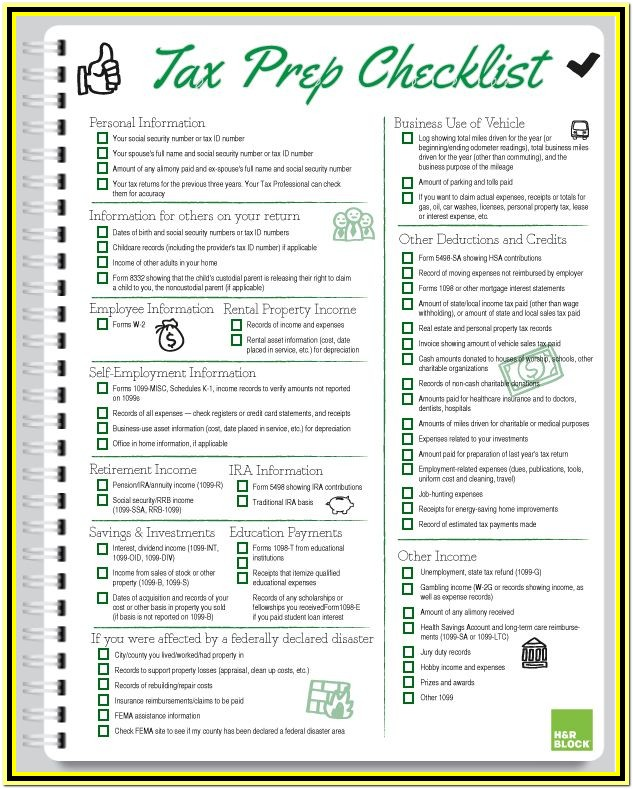 Tax Preparation Worksheet For Small Business