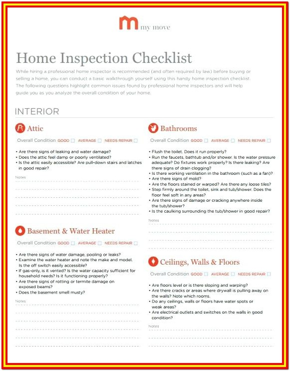 Dcfs Home Inspection Checklist Il