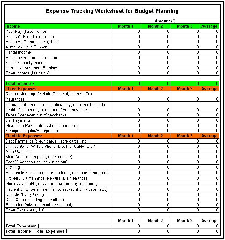 Expense Tracking Spreadsheet For Business