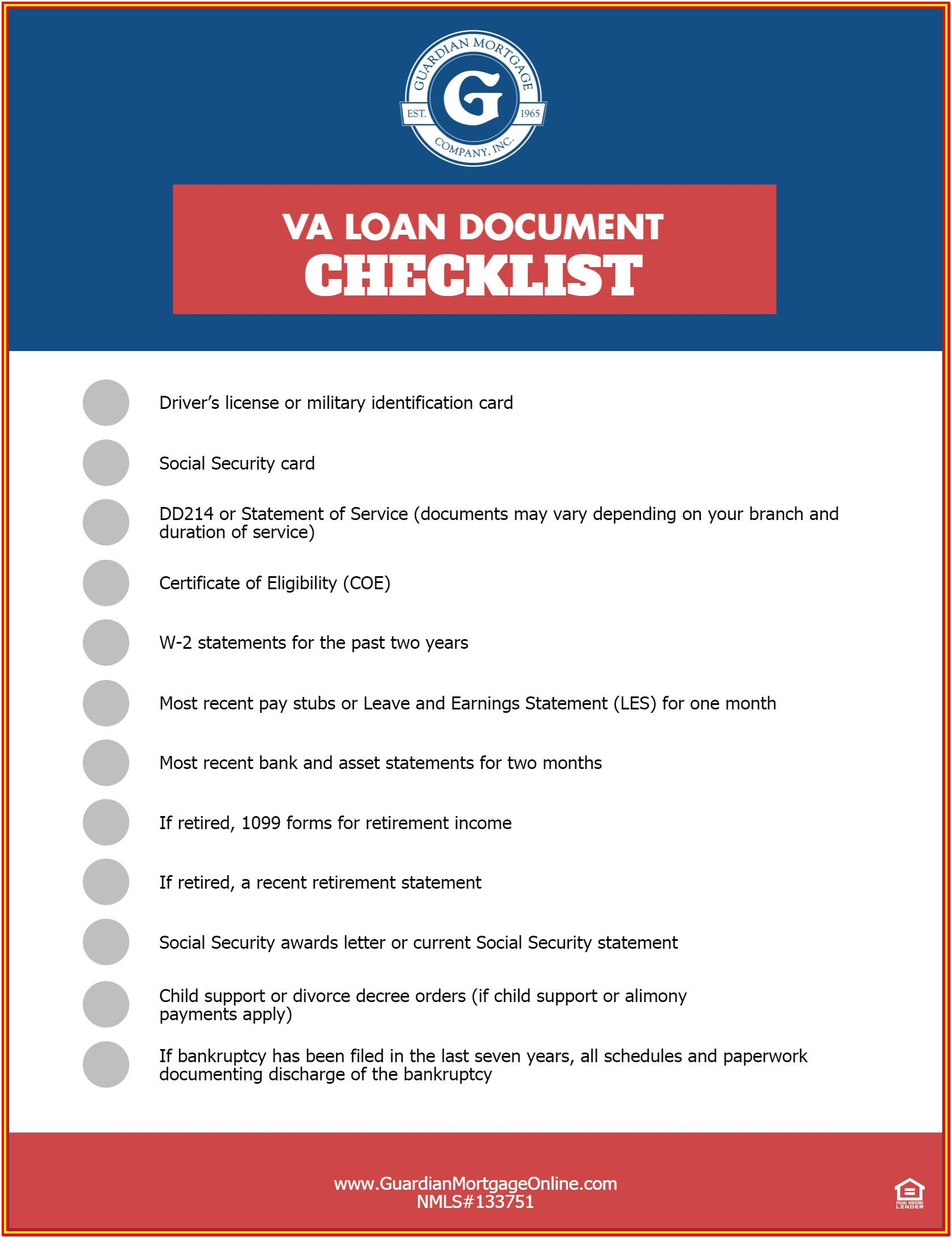 Home Inspection Checklist For Va Loans