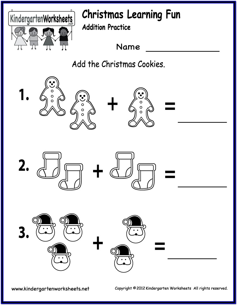 Printable Math Worksheets Christmas