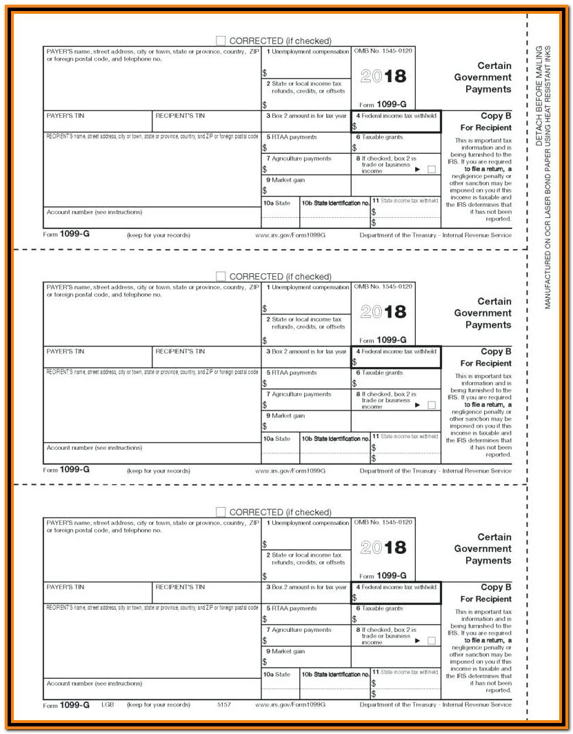 Irs Form 1099 G