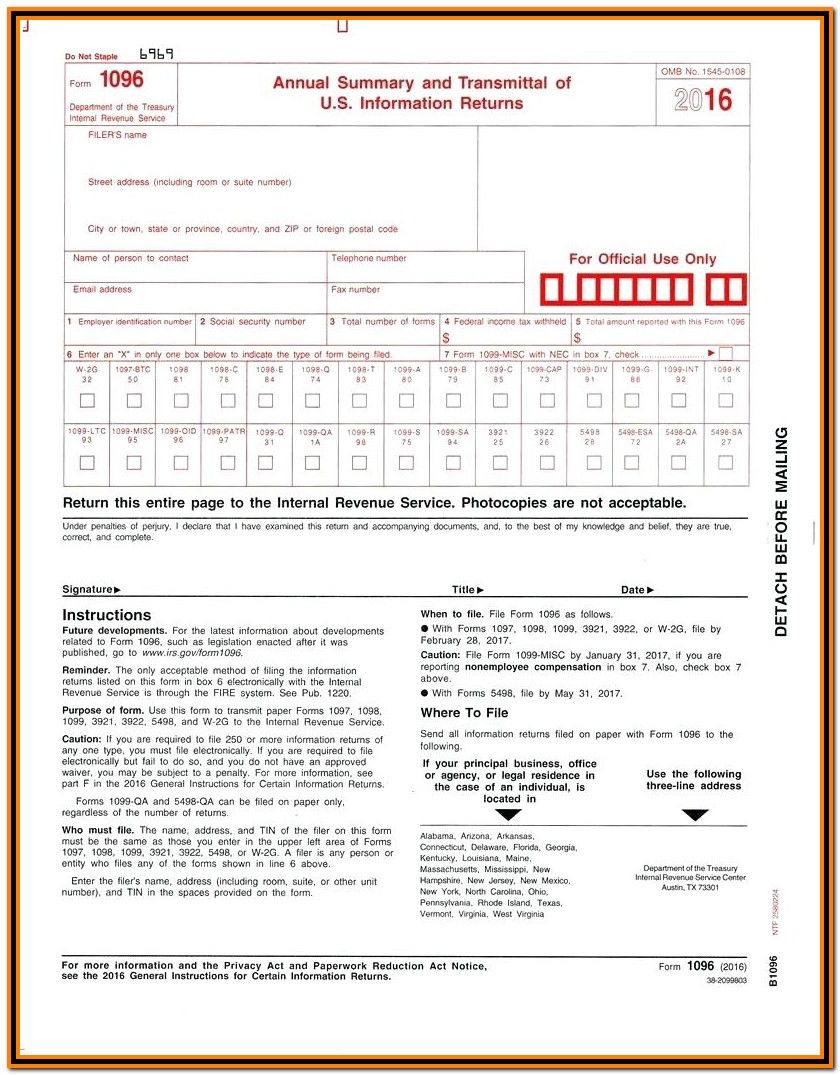Irs Form 1099 Online Filing