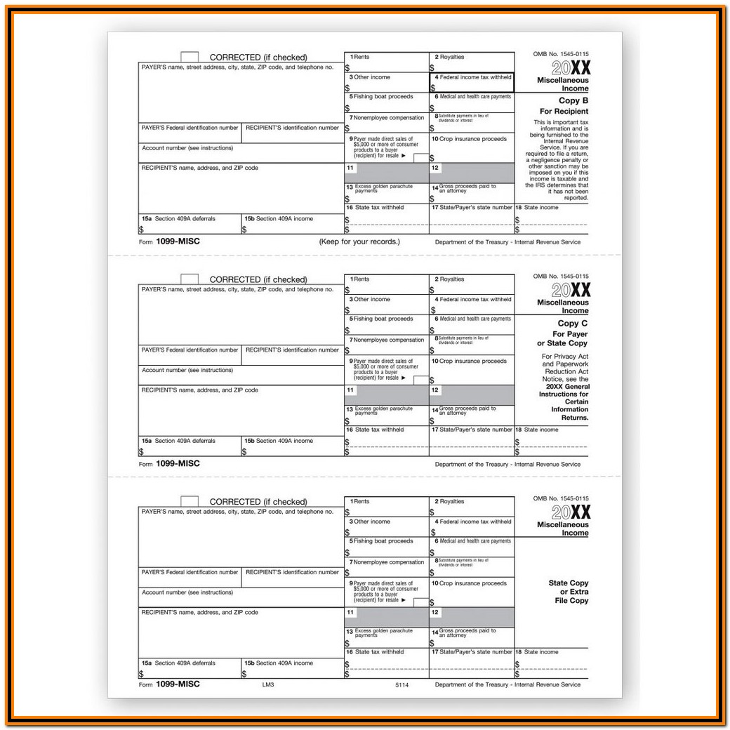 Irs Form 1099 Order