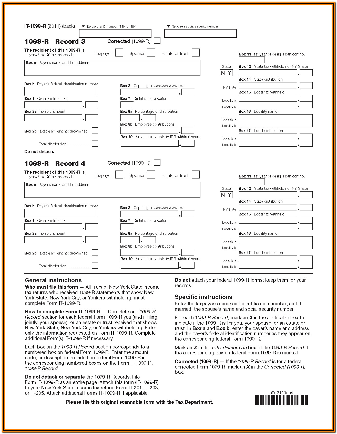 Irs Form 1099 R Box 5